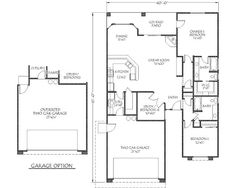 1537 square feet, 3 bedrooms, 2 batrooms, 2 parking space, on 1 levels, Floor Plan