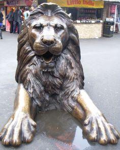Grimmiger Löwe, London - Foto: S. Hopp