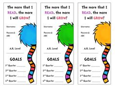 Growth goals bookmarks