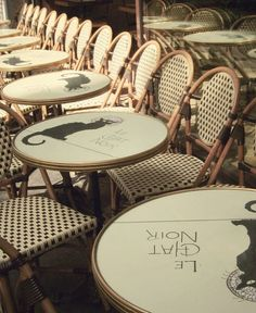 """""""The Café Le Chat Noir was once a cabaret in the bohemian Montmartre district of Paris. Today, it has been transformed into a modern boutique hotel with a few nods to its raucous past."""""""