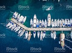 Marina bay with sailboats and yachts royalty-free stock photo