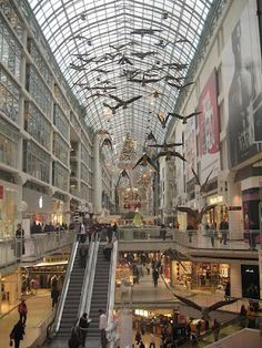 Canada Goose coats online fake - Canada Geese in Flight, art inside Eaton Center, Toronto | For the ...