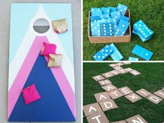 Get endless entertainment this summer from these DIY backyard games for kids & adults! DIY cornhole, ladder ball, Yahtzee, and even a tutorial for making...