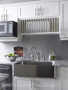 Superb apron sink in Kitchen Contemporary with Stainless Steel Kitchen next to White Cabinet Gray Countertop alongside Apron Sink and Sink Without Window