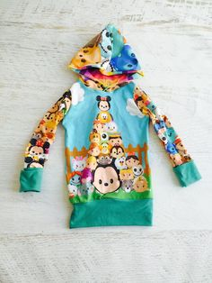 This Tsum Tsum Disney Inspired Hoodie is super cute and perfect for this Fall/Winter. This hoodie is made with two custom printed Tsum Tsum