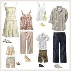 what to wear for a family photo session - summer or spring
