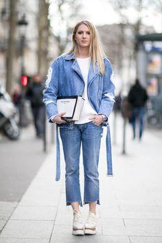 Blue jeans : ces total looks jeans sont réussis - Elle