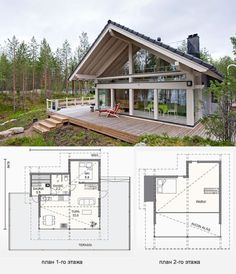 Turn the sauna into a closet Cottage Style House Plans, Tiny House Cabin, Tiny House Design, Small House Plans, Cottage Homes, My House, Prefab Homes Canada, Sauna Design, Farm Plans