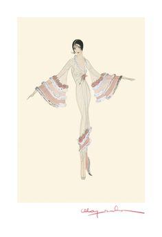 Costume design for Gloria Swanson by Madame Majeska