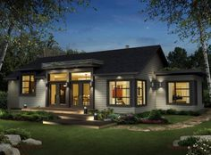 Prefab homes and modular homes in Canada: Bonneville Homes - Prefabricated House Modern Modular Homes, Prefab Modular Homes, Modular Home Builders, Prefabricated Houses, Prefab Homes Canada, Pre Built Homes, Plan Chalet, Multi Family Homes, Cottage Style Homes