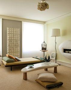 Minimalist Meditation Room Design Ideas  Me gusta el detalle de paredes con volumenes