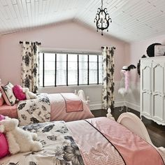 Pink Black And White Girls Bedroom With Design, Pictures, Remodel, Decor and Ideas