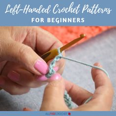 Crochet doesn't have to exclude left-handed people! With this genius compilation, you will find beginner-friendly crochet tutorials and videos made fo. Crochet Hat For Beginners, Beginner Crochet Tutorial, Beginner Crochet Projects, All Free Crochet, Crochet Instructions, Learn To Crochet, Hand Crochet, Crochet Tutorials, Spiral Crochet
