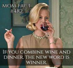 Winning. Wine