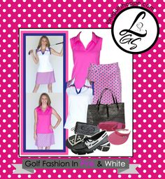 Fabulous Pink & White Golf Outfit at #lorisgolfshoppe