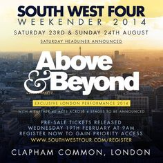 Above and Beyond recorded live at SW4 London. Tracklist No IDs if you know the tracks hit us up with a comment.