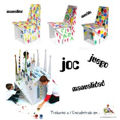 Què et semblaria poder-vos contruir i decorar la vostre propia cadira? i aconjuntar-la amb un escriptori? o millor encara... una Sagrada Família personal! :)  ¿Qué te parecería poder construir y decorar vuestra propia silla? ¿Y conjuntarla con un escritorio?... mejor aún... ¡Una Sagrada Familia personal! :)