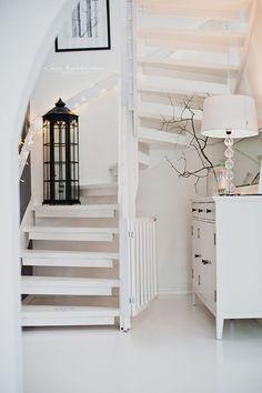 at the bottom Decor Interior Design, Interior Decorating, Boho Deco, Rustic Stairs, Hallway Inspiration, Modern Rustic Decor, Apartment Bedroom Decor, Love Your Home, Scandinavian Home
