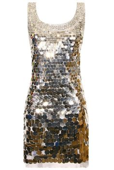 Mirror Ball Silver Sequin Party Dress: Perfect for New Year's Eve!