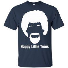 Happy Little Trees T-Shirt Unique Geek T-Shirt-01