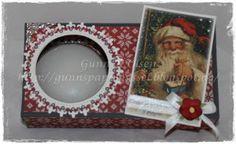 Gunns Papirpyssel, gift box, gave eske, jul, christmas, warm light, fyrstikkeske, papirbretting, paperfolding, scrapping, scrapbook