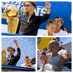 Stephen Curry #30 of the Golden State Warriors and his pregnant wife Ayesha were all smiles during the Golden State Warriors Victory Parade in Oakland, California. Their daughter Riley, on the other hand, was distracted.... Read more on #blackcelebkids.con. #bck#rileycurry #stephencurry#warriors#goldenstatewarriors#ayeshacurry#therileyshow Stephen Curry Ayesha Curry, The Curry Family, Stephen Curry Basketball, Stephen Curry Pictures, Victory Parade, Pregnant Wife, Back Off, All Smiles, Golden State Warriors
