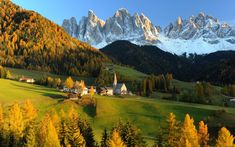 """""""When autumn comes to the Dolomites""""........Funes Valley (Val di Funes), Italy"""