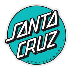 Surf Stickers, Printable Stickers, Mirror Stickers, Phone Stickers, Hand Sticker, Logo Sticker, Santa Cruz Stickers, Santa Cruz Logo, Dot Logo