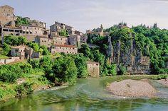 Cliff top village, the ardeche