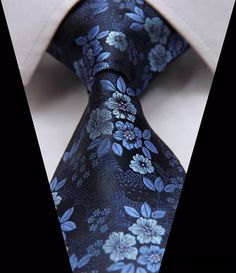 This 100% silk woven classic necktie is the perfect tie for a man whose favorite color is blue. Our shades of blue paisley tie would rock your favorite charcoal gray suit and light gray shirt.