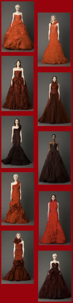 Red wedding dress 2013 Vera Wang collection- gorgeous gowns.....not for a wedding