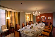 Private Dining at the Grand Presidential Suite- ITC Maurya, New Delhi
