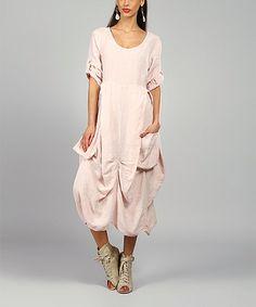 Loving this Pink Pamela Linen Scoop Neck Dress on #zulily! #zulilyfinds
