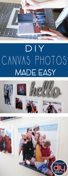 Photo canvases can be found in nearly every home across the country. Create your own photo canvas at a fraction of the price with these easy steps.