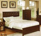 On Sale CALIFORNIA KING SIZE BED W/ CARVED DETAILS IN DEEP BROWN FINISH BY POUNDEX - http://paikad.com/on-sale-california-king-size-bed-w-carved-details-in-deep-brown-finish-by-poundex