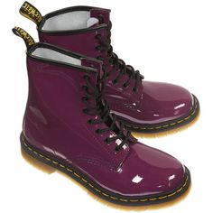 DR MARTENS 8 Eye Patent Boots