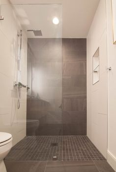 Modern Contemporary Bathroom Zero Entry Curbless Shower With