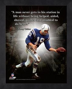 Difference Between Cocky and Confident sports quote Football Players Photos, American Football Players, Arena Football, Sport Football, Nfl Colts, Johnny Unitas, Baltimore Colts, Here's Johnny, Sport Inspiration