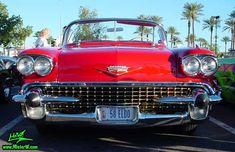 Chrome grill of a 1958 Cadillac Eldorado Biarritz