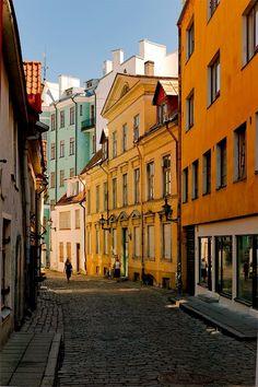 Old alley in Tallinn #COLOURFULESTONIA #VISITESTONIA