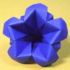 折り紙でリンドウの折り方!敬老の日に簡単立体的な作り方 | セツの折り紙処
