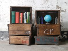 Wooden storage trunks can also be used a wall shelving to give your home that global nomad look. #storagebox #nonplasticstorage #storagebox #woodenbox #vintagefurniture