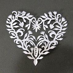 Cynthia Emerlye, Vermont artist and kirigami papercutter: Kirigami #hearts #valentines