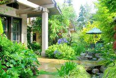 12 Landskap Ideas Pokok Bunga Kertas Kolam Taman