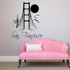 San Francisco Wall Decals Landscape Stickers by DecalMyHappyShop