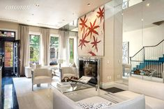 Take a look inside Law & Order star Mariska Hargitay's New York City townhouse. Check out the strikingly colorful and modern abode Six Story, Nyc Real Estate, Arch Interior, Upper West Side, Tall Ceilings, Transitional Living Rooms, Luxury Apartments, Townhouse