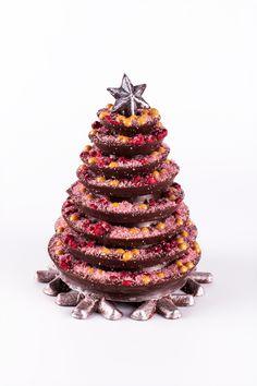 """Arbre de Nadal Fantasia mab perles de Xocolata Caramelia, """"Crispis"""" de Gerds i sucre Rosa.#christmas #nadal #sauleda #chocolate #tree"""