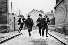 Paul McCartney, George Harrison, Ringo Starr and John Lennon of the Beatles in 'A Hard Day's Night.'
