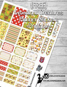 {FREE} Woodland Creatures Planner Sticker Printable