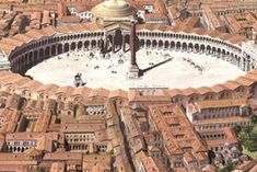 Images of the Byzantine capital just before it fell to the Ottomans in 1453 have been created by archaeologists. Byzantine Architecture, Ancient Greek Architecture, Historical Architecture, Gothic Architecture, Minecraft Architecture, Library Of Alexandria, Hagia Sophia, Cities In Europe, Grand Mosque